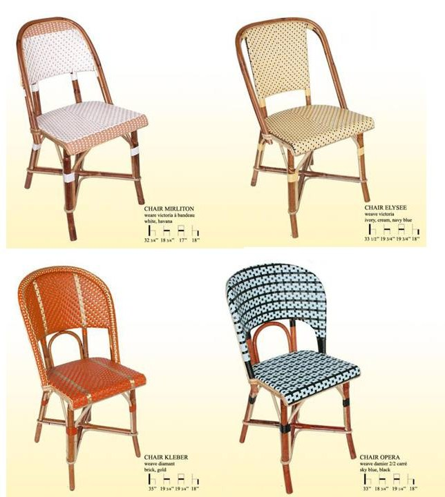 Ordinaire Maison Gatti French Rattan Bistro Chairs