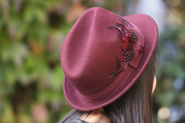 hat oxblood