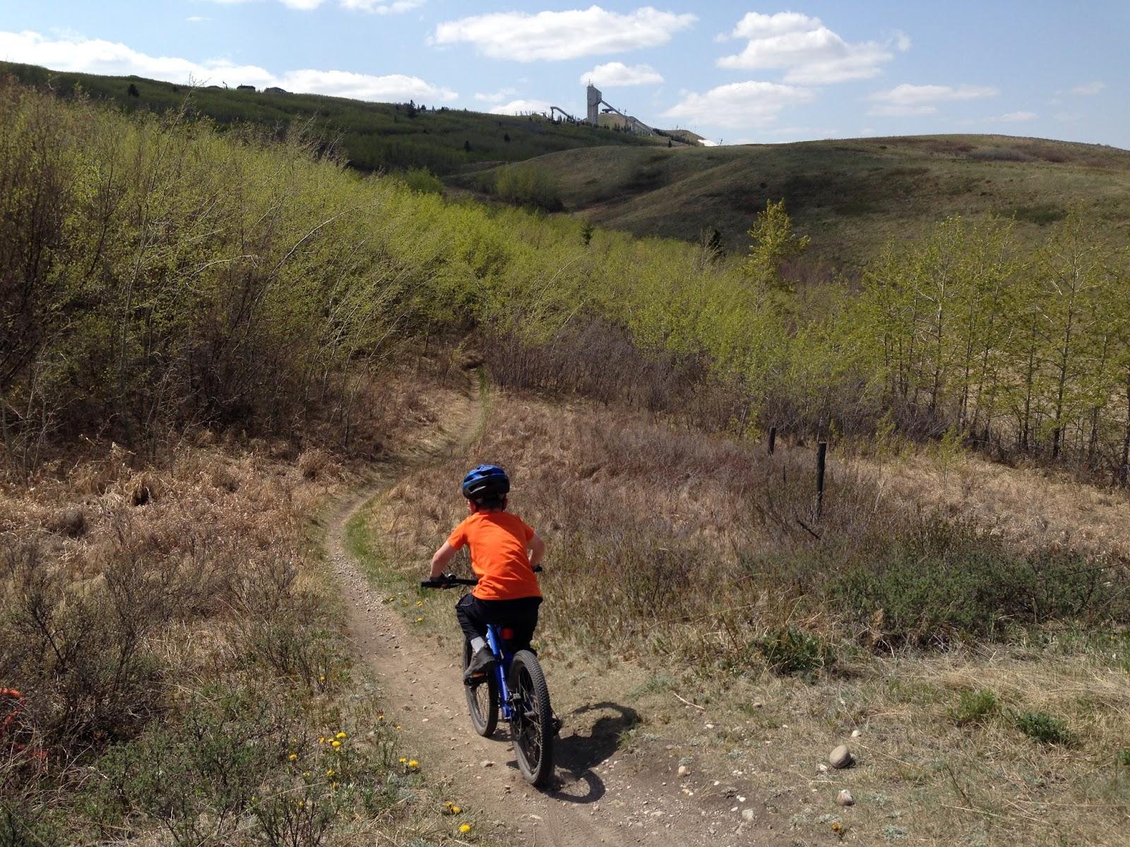 Mountain Biking On The Paskapoo Slopes Beside Canada Olympic Park