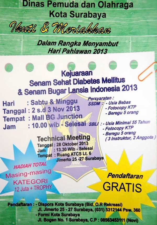 Kejuaraan Senam Sehat Diabetes Melitus dan Senam Bugar Lansia Indonesia 2013