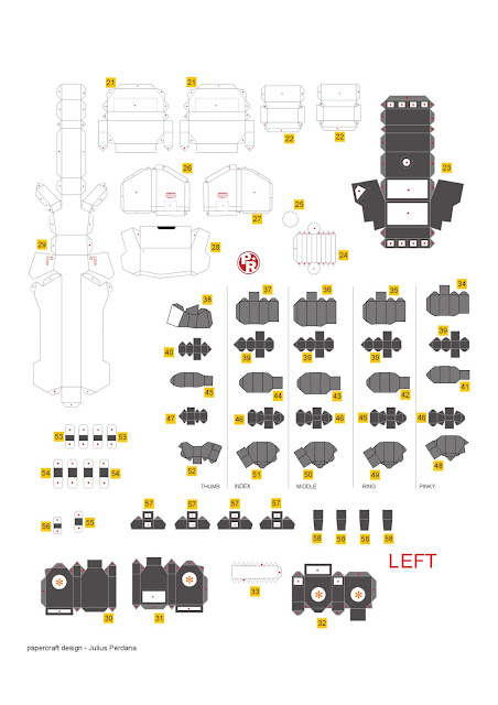Geek S Republic Unicorn Gundam By Paper Replika Part 6 Arm