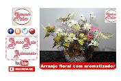 Diy - Arranjo floral com aromatizador de ambiente