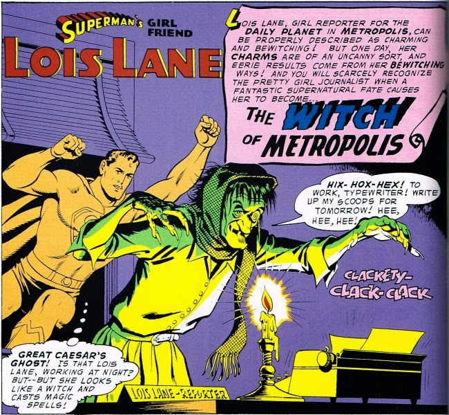 Superman's Girlfriend Lois Lane: The Witch of Metropolis Splash Page