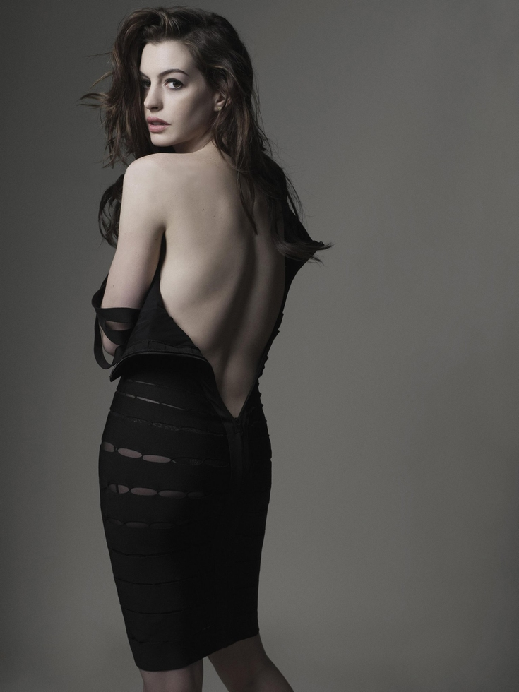 Beauty Anne Hathaway Hairstyle by Mark Seliger
