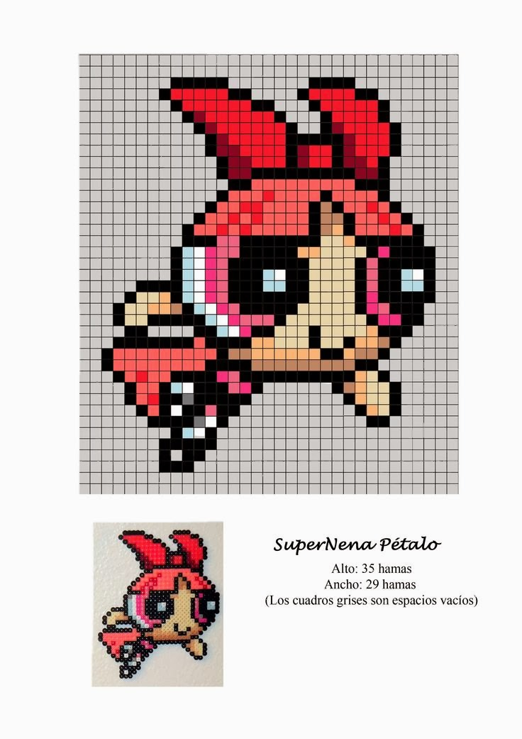 Powerpuff Girls Hama Beads Pattern post by wememade