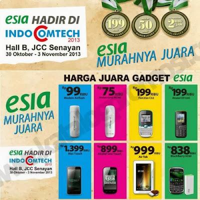 Harga Smartphone Esia di Indocomtech 2013