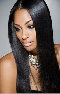 Long Black Wigs