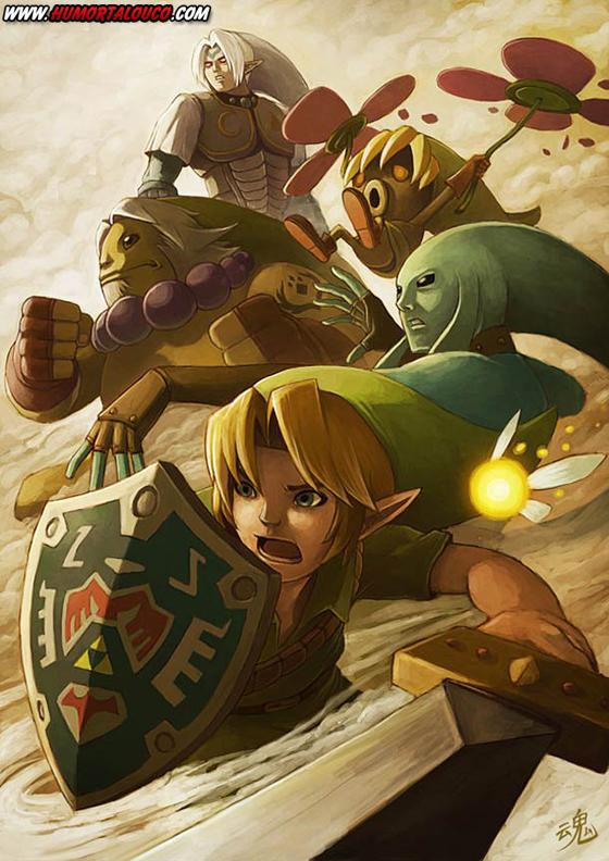 18 animações do mundo dos vídeos games e desenhos - Personagens de Zelda