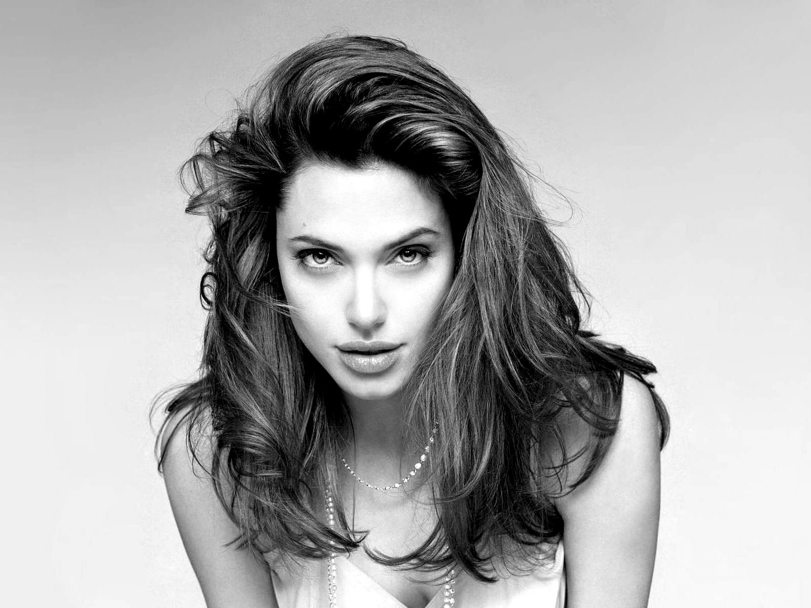 Angelina Jolie Black And White Photography