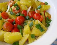 Salada de Abobrinha com Tomate-Cereja (vegana)