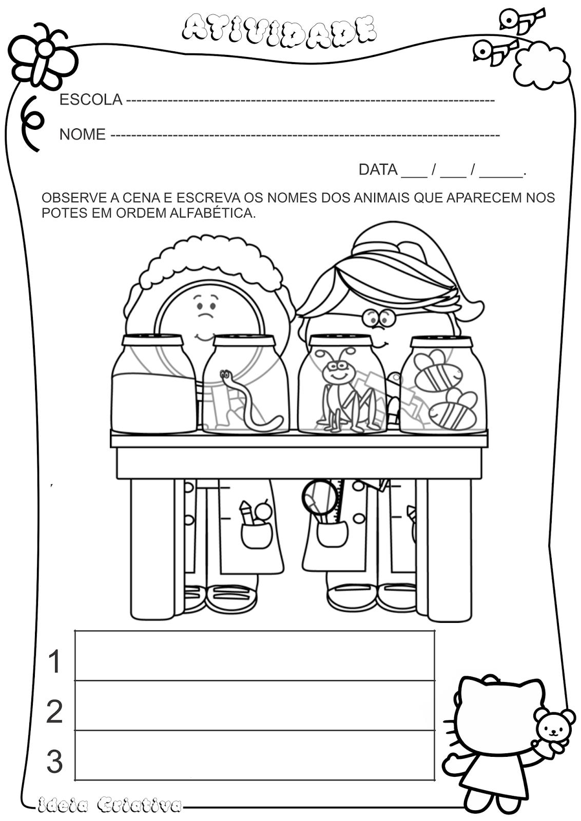 Atividade Auto Ditado Ciências