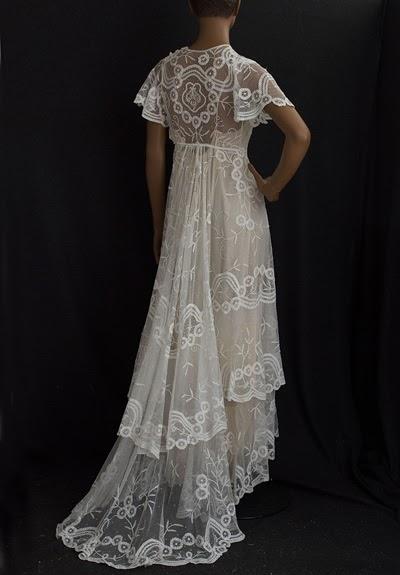 little winter bride little white dress edwardian vintage