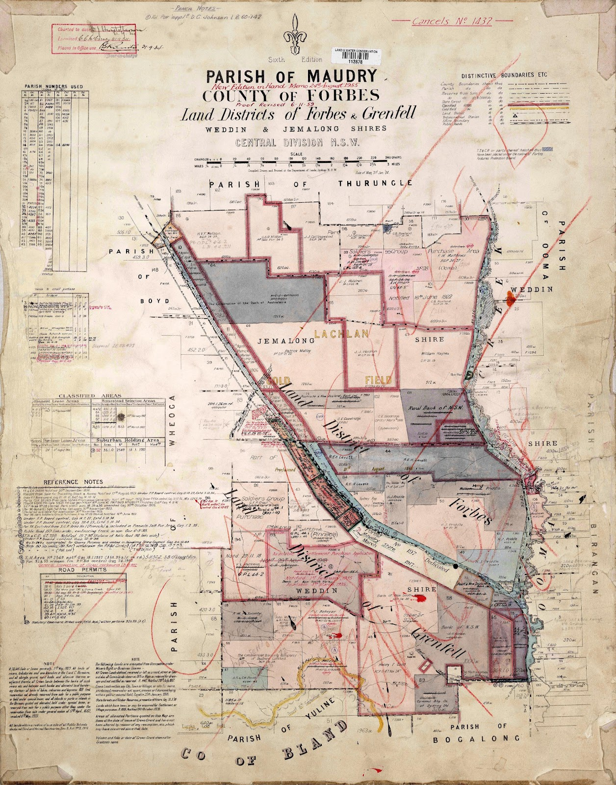 parish of maudry land titles office charting map