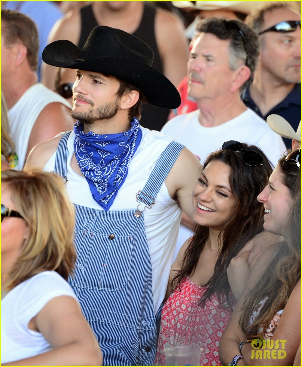 Ashton Kutcher And Mila Kunis Attending 2014 Stagecoach Country Music