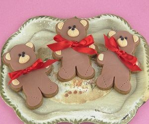 No Icing Teddy Bear Cookies