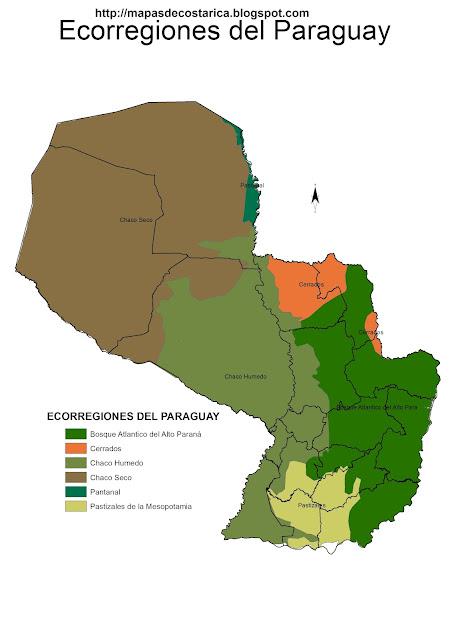 Mapa de Ecorregiones del Paraguay, mapa grande