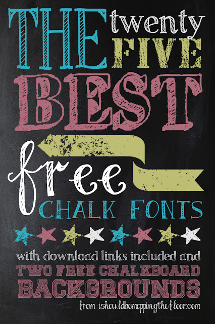 25 awesome free chalk fonts and 2 chalkboard backgrounds includes