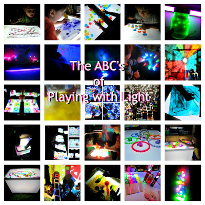 26 ways to play with light and light tables