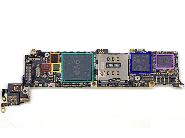 Apple-Teardown-A6-Quallcomm-modem-Broadcom-Controller