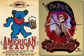 American Beauty nueva cerveza del grupo de rock Grateful Dead