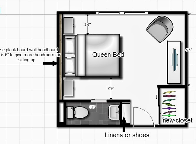 Diy design fanatic turning a closet into a bathroom for Bathroom planner in feet and inches