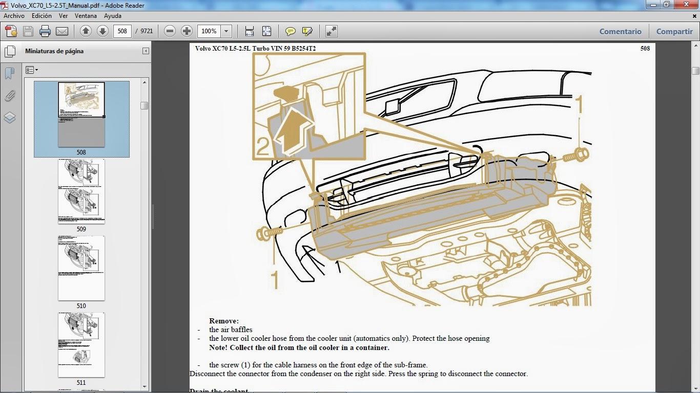 volvo xc70 motor gasolina l5 2 5 lts turbo manuales de taller de volvo rh manuales volvo blogspot com Manual E Instrument Manual De Reparacion Automotriz Gratis