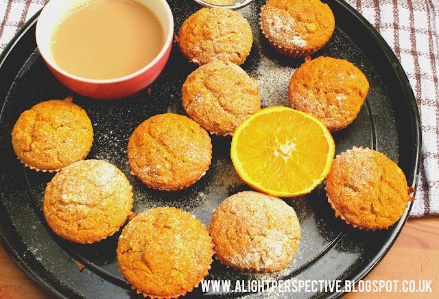 Light Perspective: Zesty Orange & Mango Breakfast Muffins