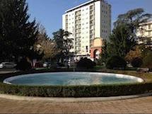Le fontane e l'Arco di piazza Matteotti