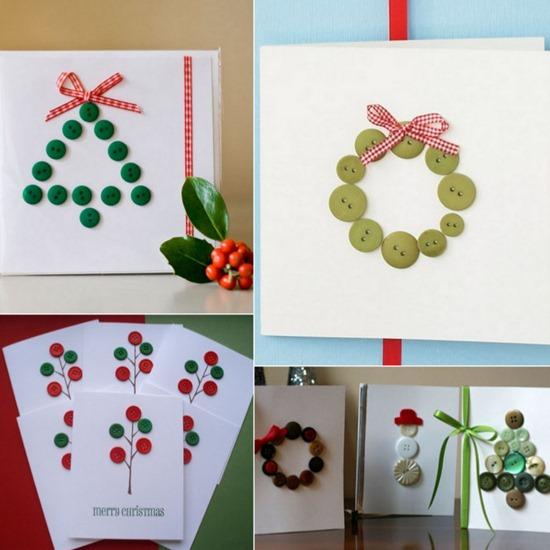 Navidad con botones de tin marin talleres infantiles - Hacer tarjetas de navidad originales ...