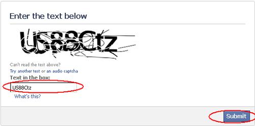 Captcha Mengatasi Akun Facebook Dikunci Sementara