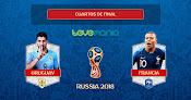 Francia está en semis. Ganó a Uruguay 2 goles a 0 en el mundial