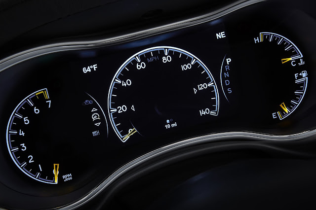 Gauge cluster of 2014 Jeep Grand Cherokee