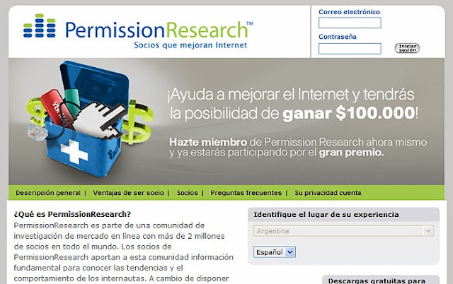 ganar dinero con permission research