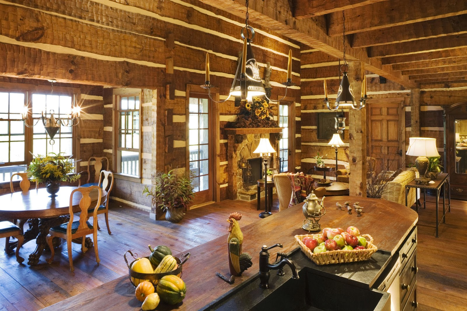 Morning musings my log cabin dream - Cabin floor concept ...