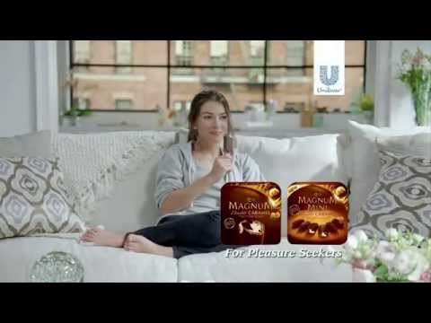 who is that actor actress in that tv commercial magnum double caramel ice cream tv. Black Bedroom Furniture Sets. Home Design Ideas