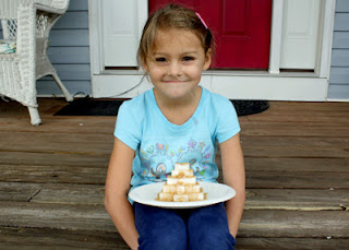 Tessa's sugar cube ziggurat. Quick and sweet for sure!