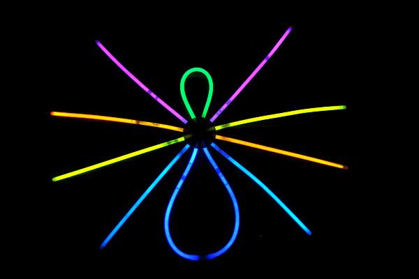 glow stick spider