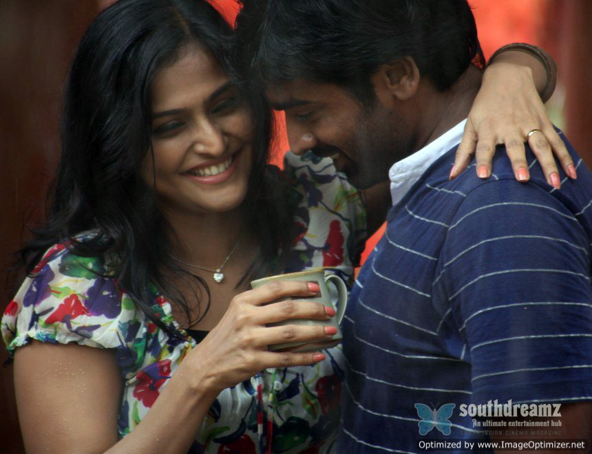 Actress Ramya Nambeesan in pizza tamil movie song still