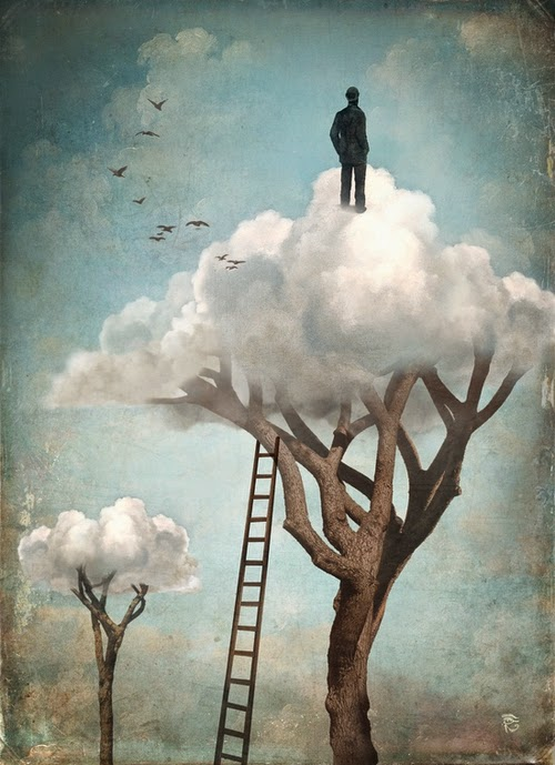 27-The-Great-Escape-Christian-Schloevery-Surreal-Paintings-Balance-of-Mind-and-Heart-www-designstack-co