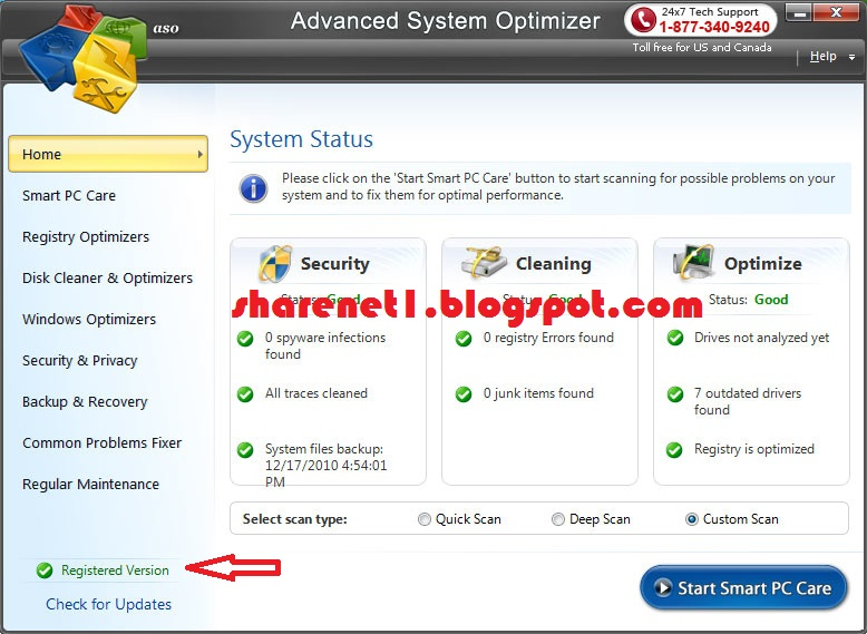 advanced system optimizer 3.5 registration key