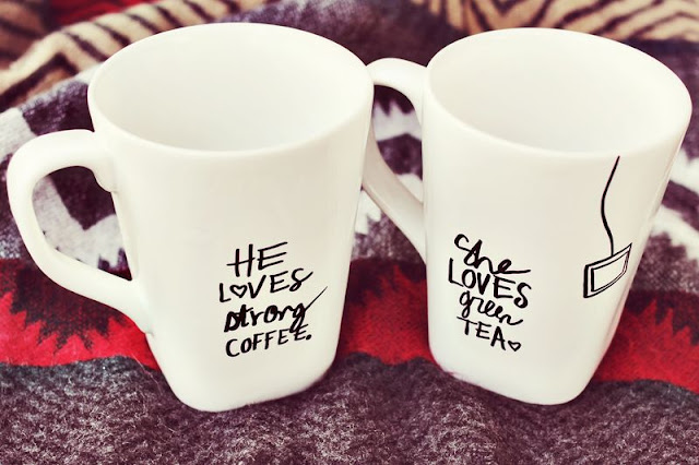 he loves strrong coffee, she loves tea