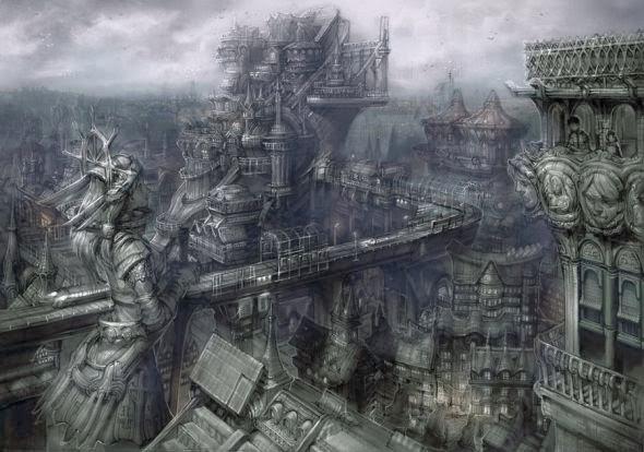 Keun-ju Kim rabbiteyes deviantart ilustrações fantasia ficção científica estilo oriental