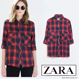 Kate Middleton Style ZARA Checked Shirt and LA CHAMEAU Boots