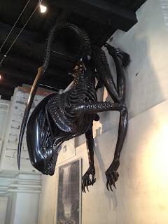 Geiger alien at the museum in Gruyeres, Switzerland