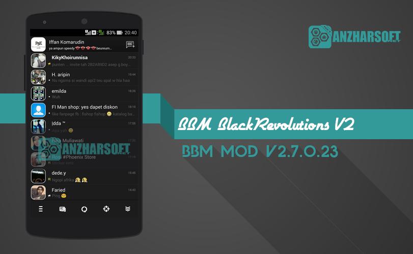download bbm mod android dengan warna gelap dark