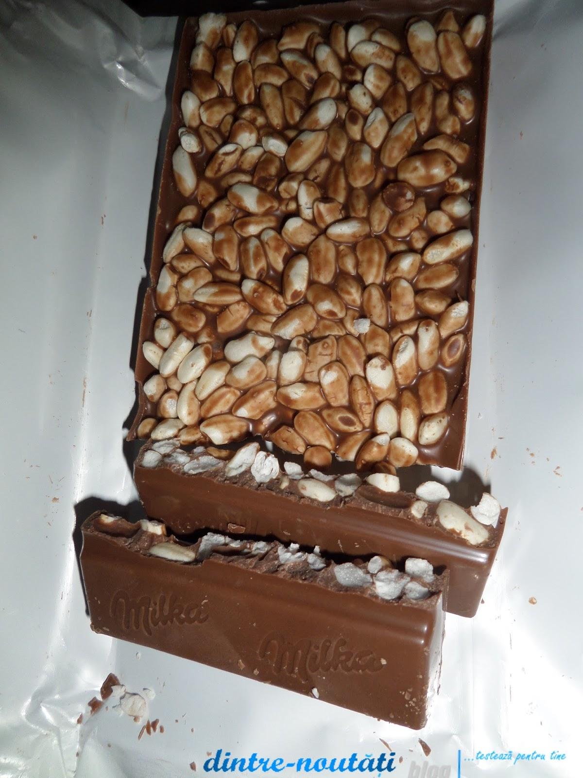 Ciocolată cu lapte din Alpi și orez expandat