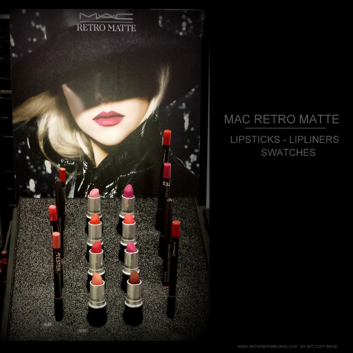 MAC Retro Matte Makeup Collection - Lipsticks - Pro Longwear Lip Pencils - Photos Swatches