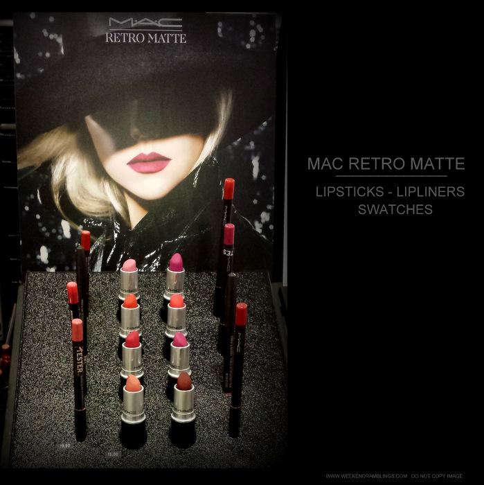 MAC Retro Matte Makeup Collection - Lipsticks - Pro Longwear Lip Pencils - Photos Swatches