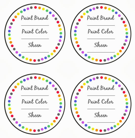 Organizing With Style Project Paint Storage And A Free Printable - Round label template