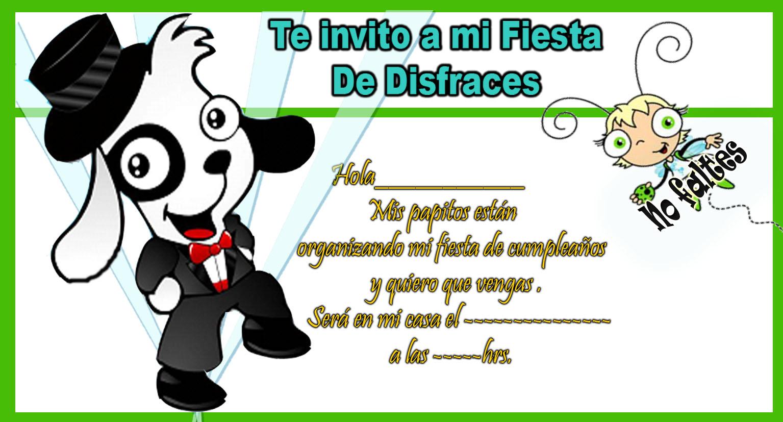 Invitaciónes de cumpleaños para imprimir gratis Doki - Imagui